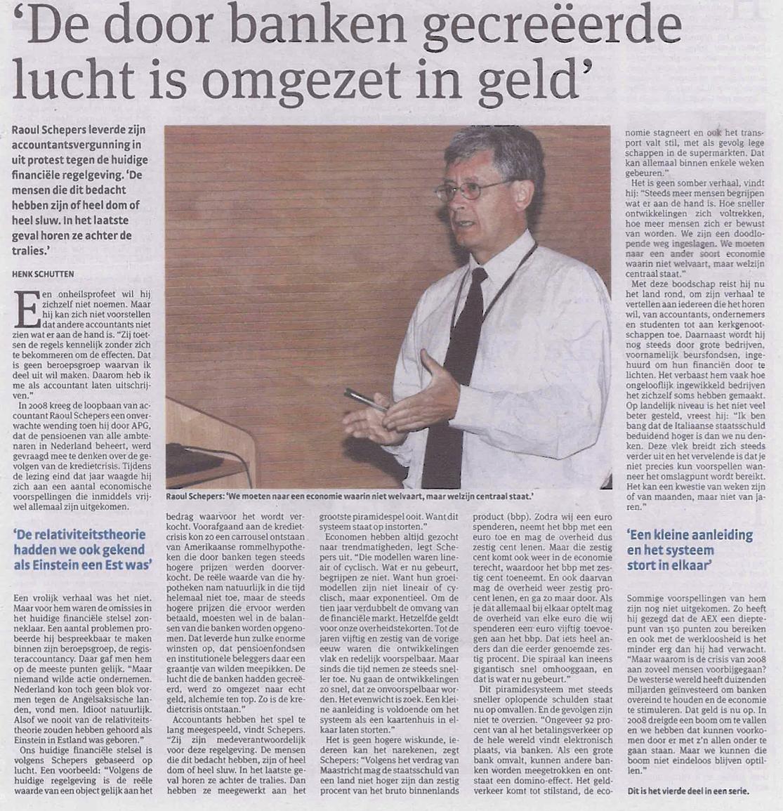 Raoul Schepers, Het Parool, 28 Nov 2011