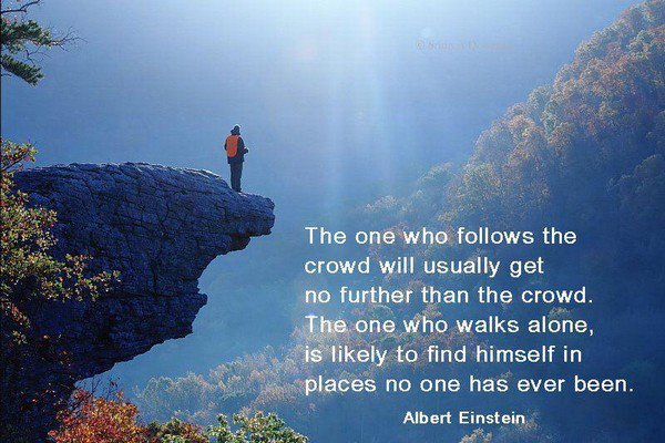 albert einstein the one who walks alone